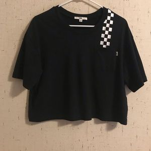 Vans Black Cropped Tshirt